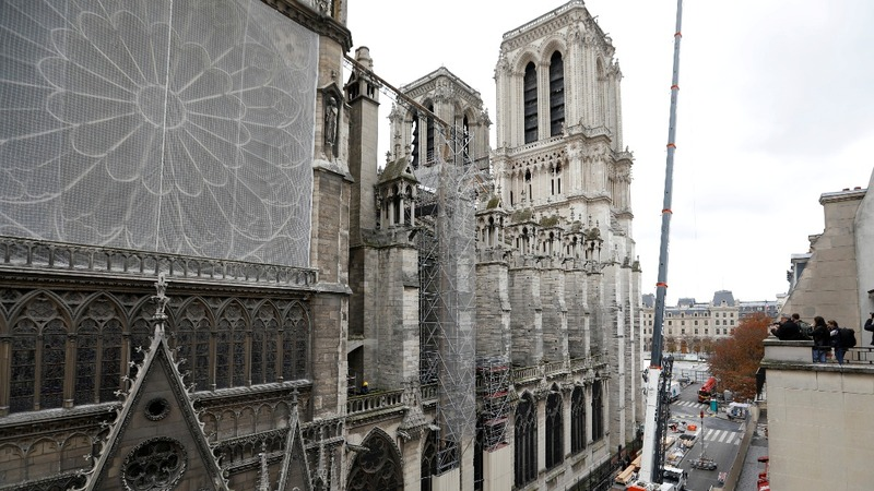 Slow progress for Notre-Dame reconstruction, six months after blaze