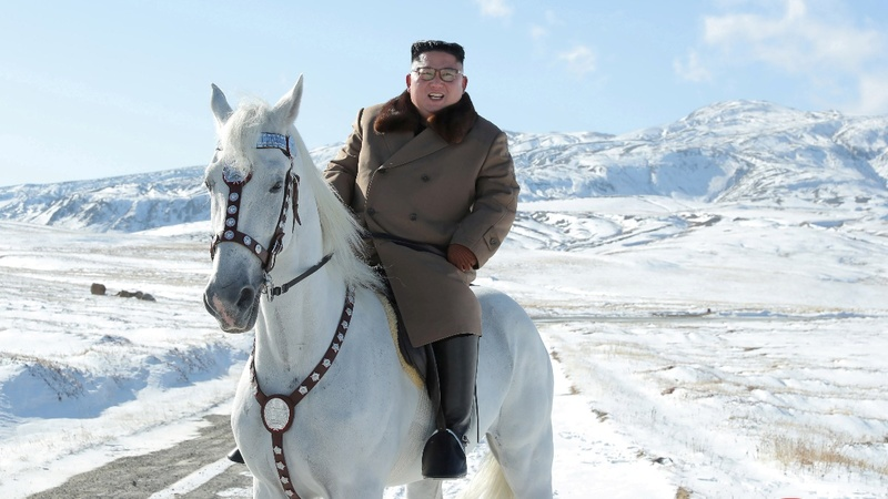 Kim Jong Un rides horse ahead of 'great operation'