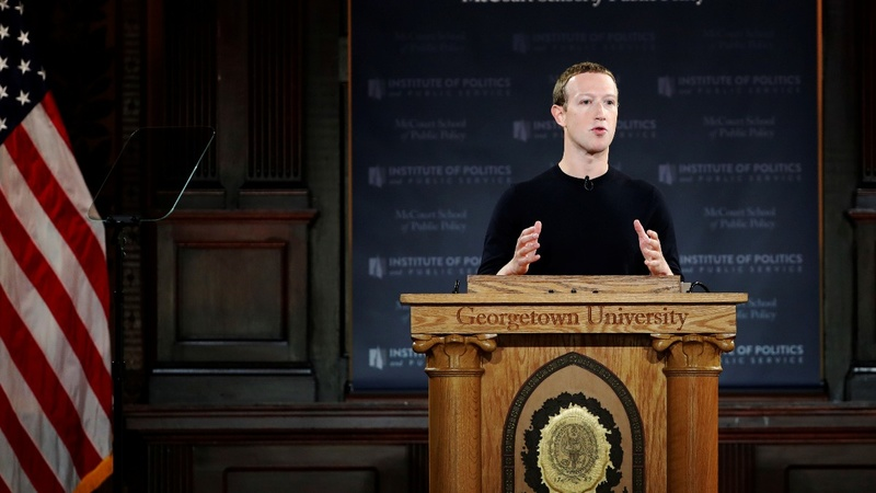 Zuckerberg defends Facebook's political ad policies