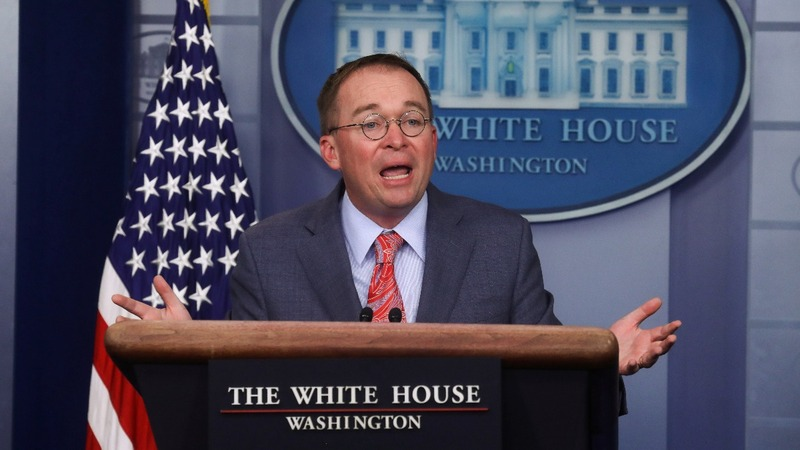 Mulvaney's remarks upend WH impeachment strategy