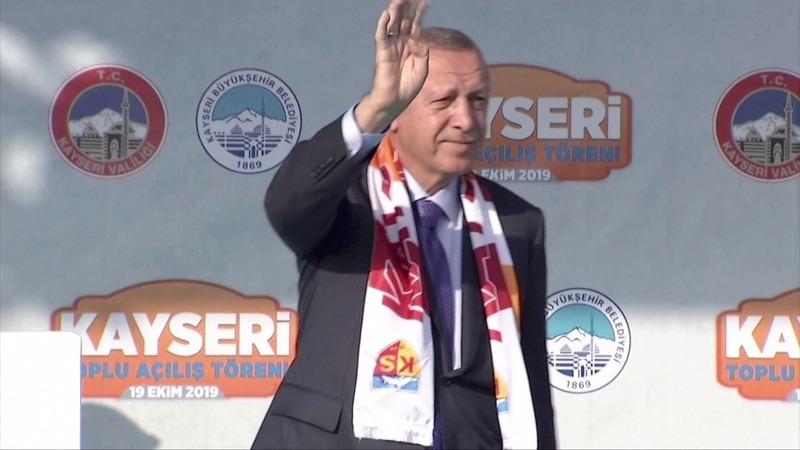 "Erdogan vows to ""crush the heads"" of Kurdish fighters if ceasefire fails"