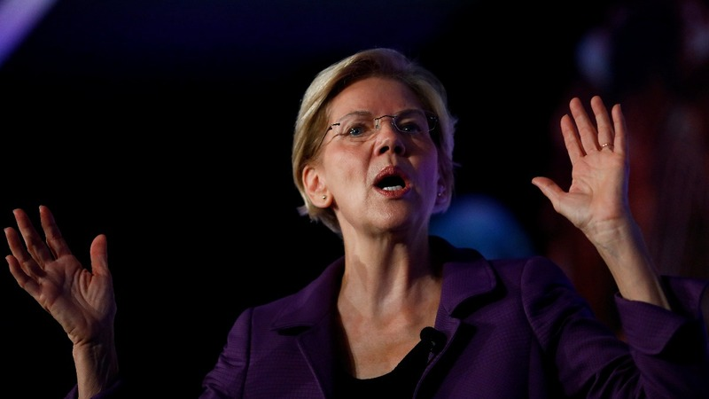 Warren takes swipe at Mark Zuckerberg over political ads