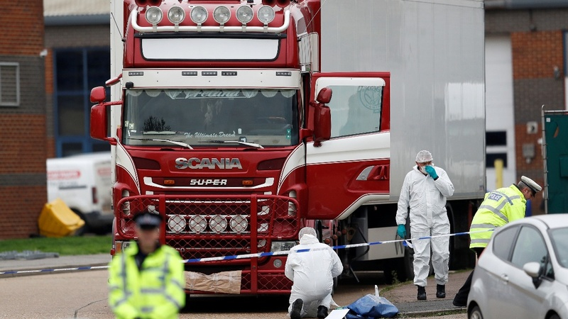 UK police find 39 bodies in truck, driver arrested