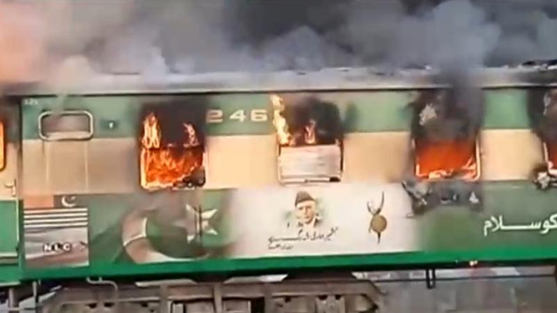 At least 65 killed in Pakistan train fire