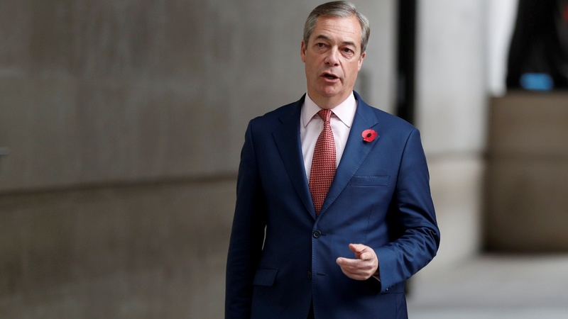 Brexit Party leader says he won't run in election