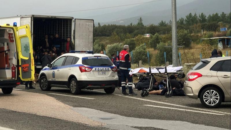 Police find migrants alive in refrigerator truck