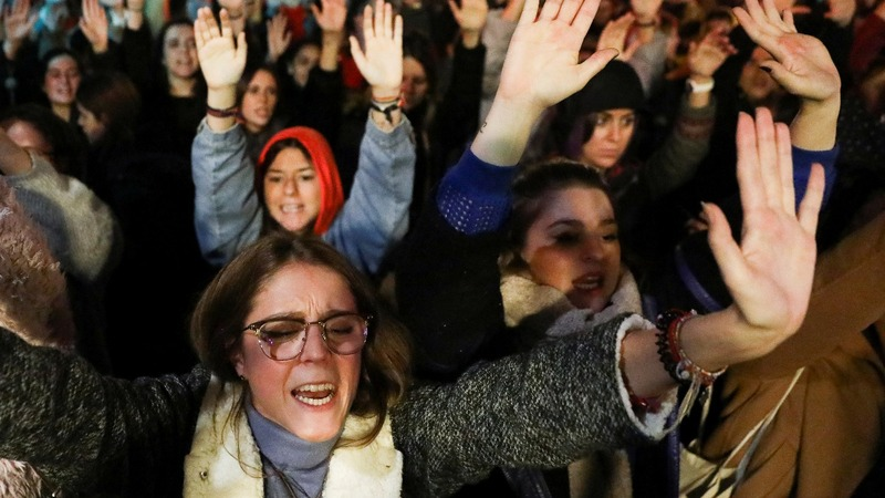 Protesters denounce Spanish sexual assault ruling