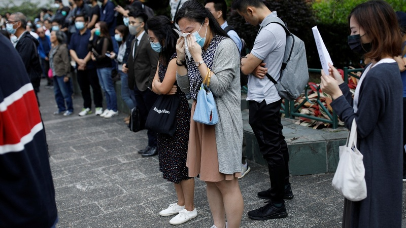 Grief after the death of Hong Kong student