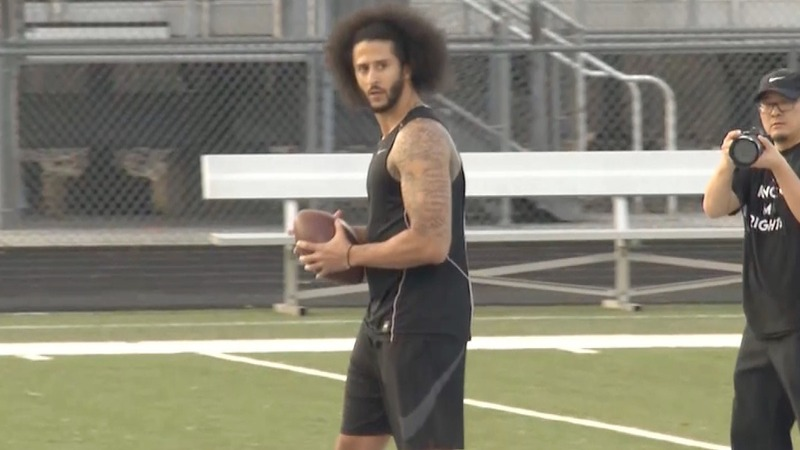 Upset with NFL, Kaepernick moves tryout