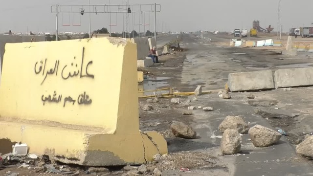 Protesters block entrance at major Iraq port