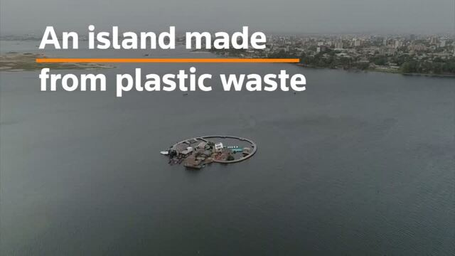 Entrepreneur builds island from plastic waste