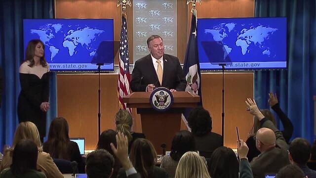 Pompeo declines to defend ex-U.S. ambassador after Trump attack