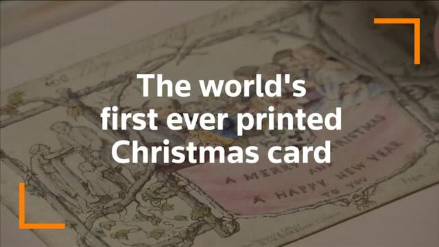First ever printed Christmas card on show in London