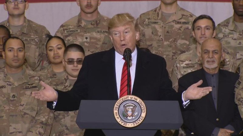 In Afghanistan, Trump voices hope for ceasefire