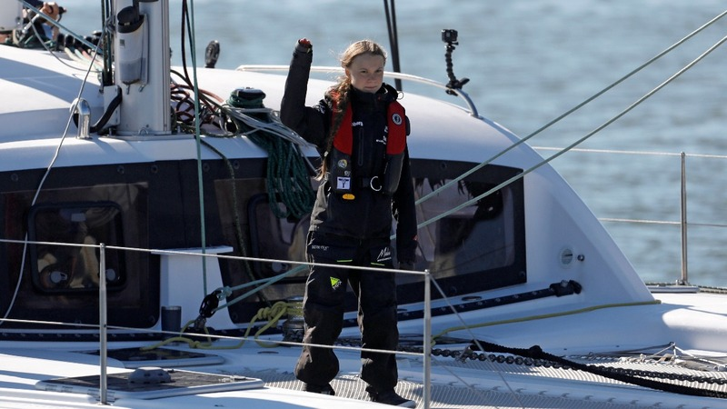Thunberg completes 20-day Atlantic crossing