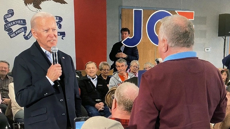 In Iowa, Biden gets into spat over his son