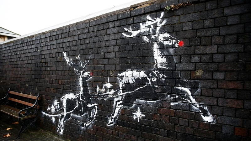 Banksy's mural highlights Christmas homeless plight