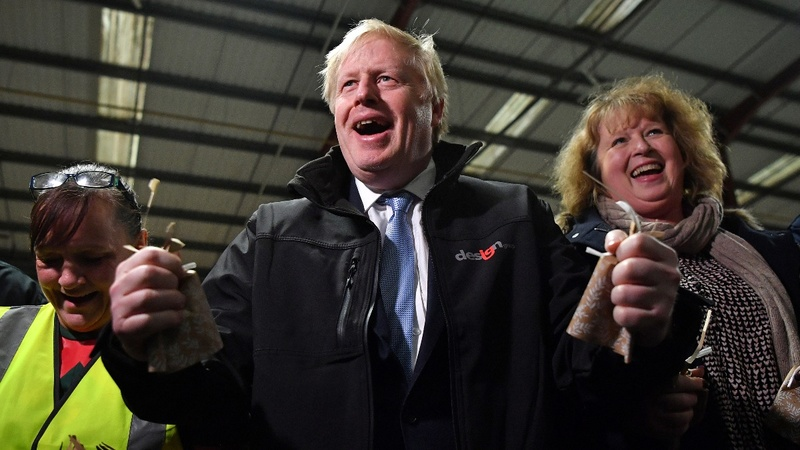 UK PM Johnson heads for victory but poll race tightens