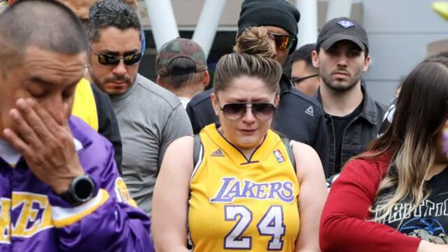 Fans shocked on news of Kobe Bryant's death