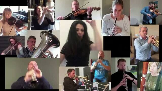 Watch an orchestra perform from their homes