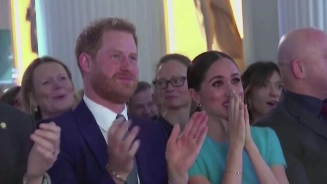 Prince Harry and Meghan bid farewell to royal roles